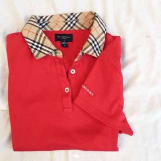 Authentic Burberry women's polo shirt