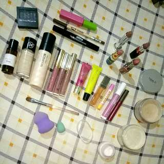 CUSTOMIZE YOUR OWN BUNDLE OF CHOICE (Make up, foundation, mascara, lipstick, loose powder, sponge, brush) TONY MOLY REVLON MAYBELLINE CELETEQUE VICTORIAS SECRET MAC LOREAL FASHION 21 BURTS BEES PINK ANASTASIA KYLIE 😍😍😍 MESSAGE ME FOR PRICES ❤