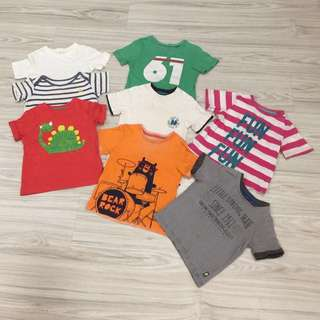 Bundle of mothercare boys t-shirts (8pcs)