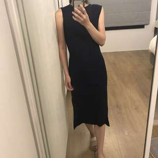 韓版 開衩小洋裝
