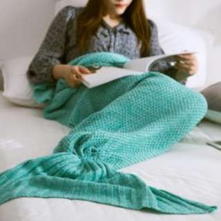 MERMAID TAIL BLANKET - GREEN