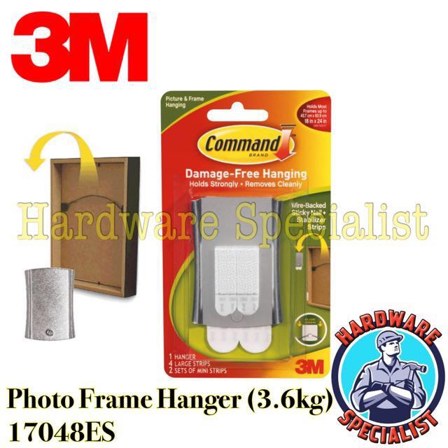 3m Command Sticky Nail Wire Back Hanger Stabilizer Strips