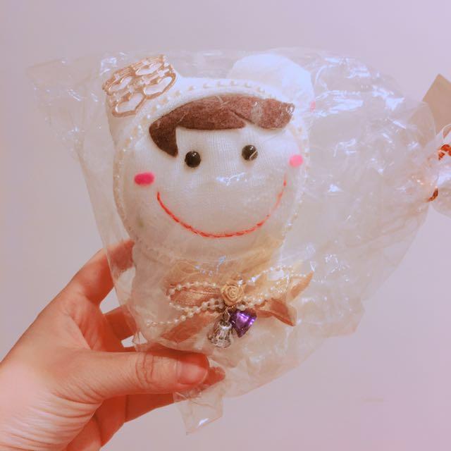 新娘造型襪子娃娃