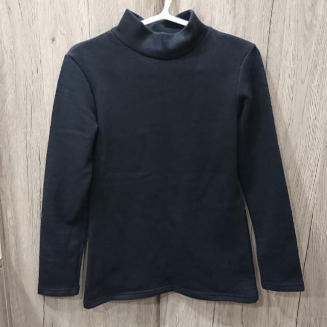 🌬黑舖棉短領內搭衣-內刷毛超保暖🌡
