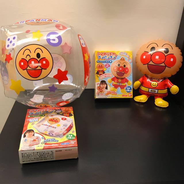 全新 日本麵包超人充氣骰子.人偶造型充氣玩具