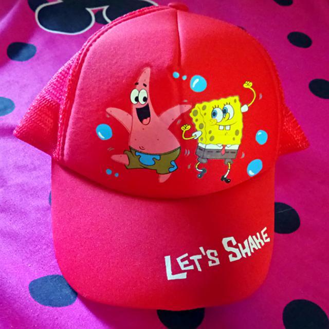 全新吊牌台灣製海綿寶寶鴨舌帽 遮陽帽