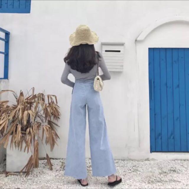 #長褲特賣 牛仔寬褲