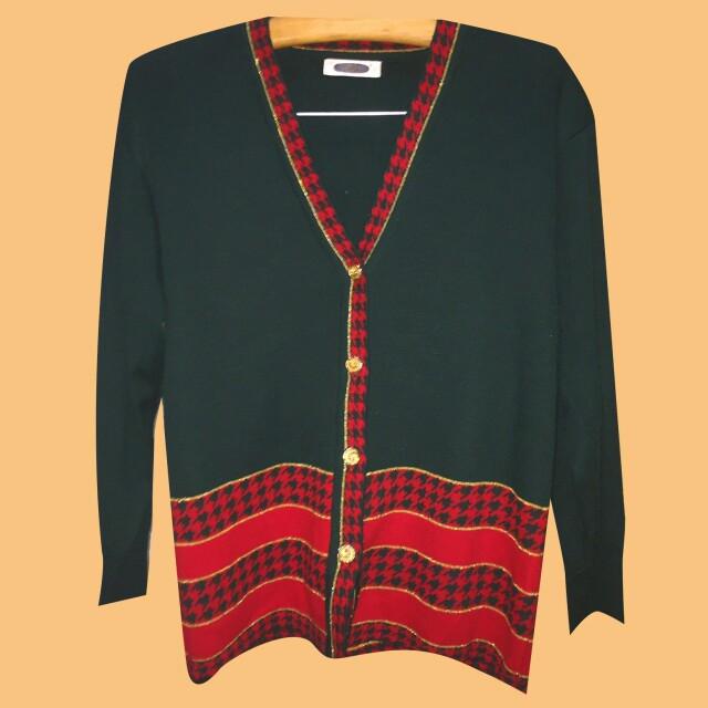 聖誕配色 針織外套