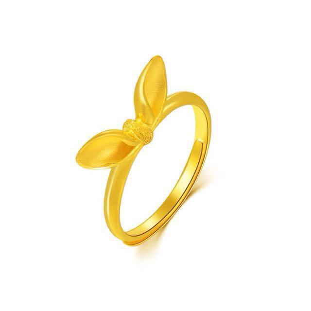 可愛性感🌟兔子結 蝴蝶結🎀兔女郎 兔耳朵 兔子👯純金戒指💍買黃金可以保值唷🤗