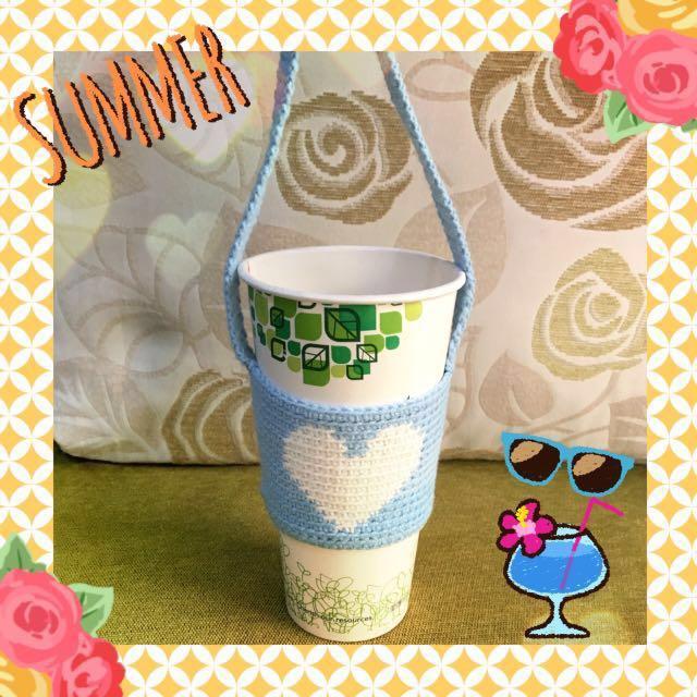 ☀️☀️ 飲料杯套 ✿ 毛線編織手作雜貨 ✿