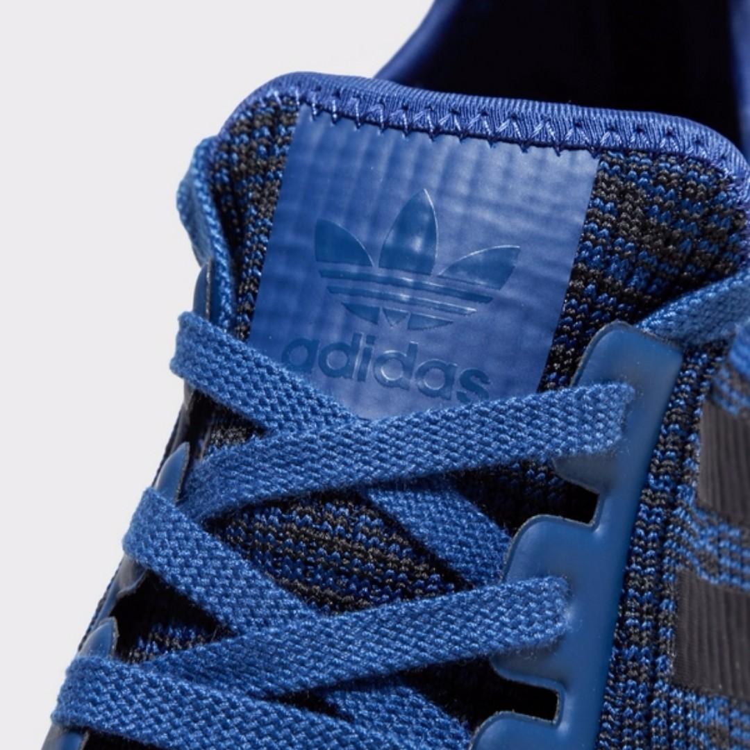 3da2a87b3df21 Adidas NMD R1 Glitch Blue Black Leather Tab