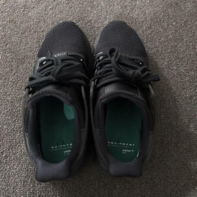 Adidas originals EQT support Adv sneaker in Black