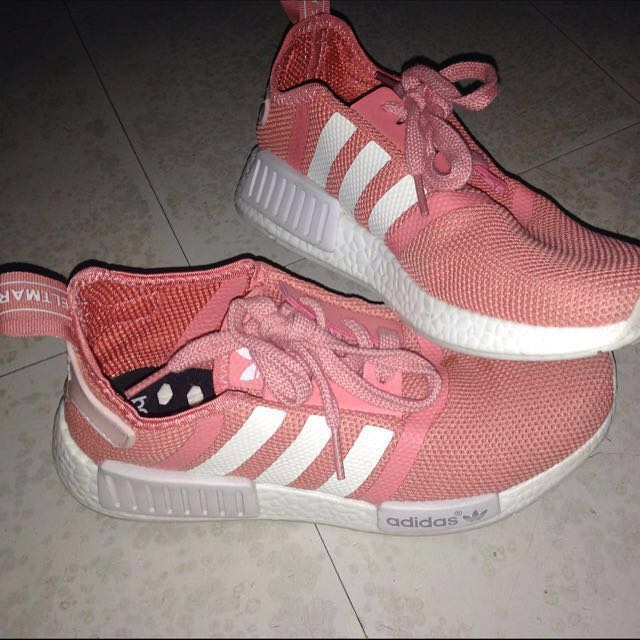 51645abc92a7 Adidas Salmon Pink Old Rose NMD Womens Runner Shoes