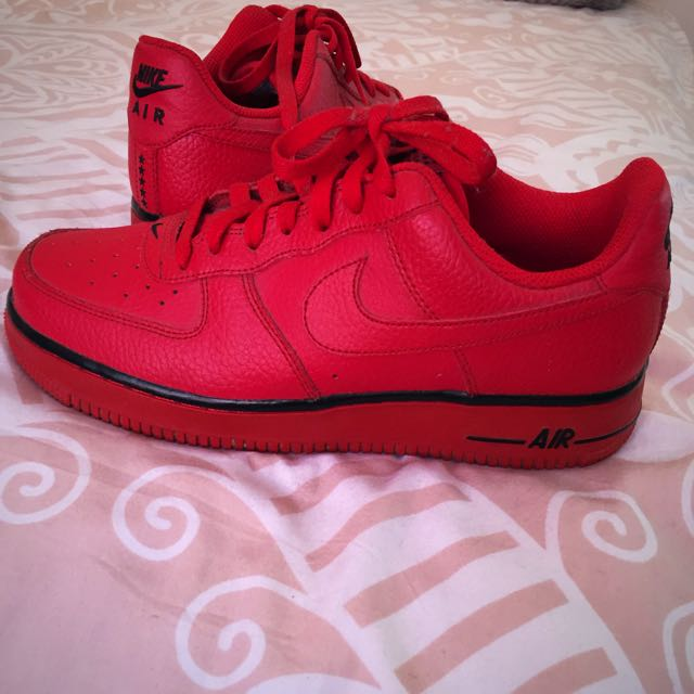 Air Force 1 Red(worn) *mint condition