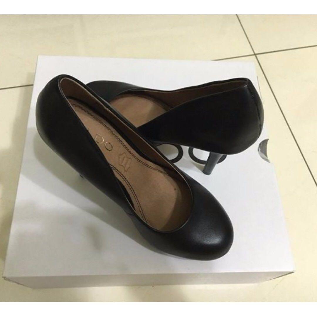 ALDO 黑色高跟鞋 OL鞋款 6號