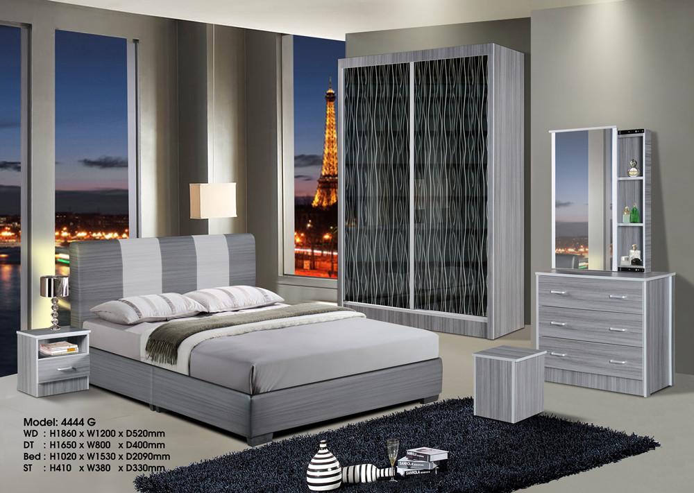 Ansuran Murah Set Bilik Tidur 5 Dalam 1 4x6 Wardrobe Home Furniture On Carou