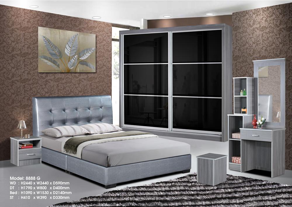 Ansuran Murah Set Bilik Tidur 5 Dalam 1 8x8 Wardrobe Home Furniture On Carou