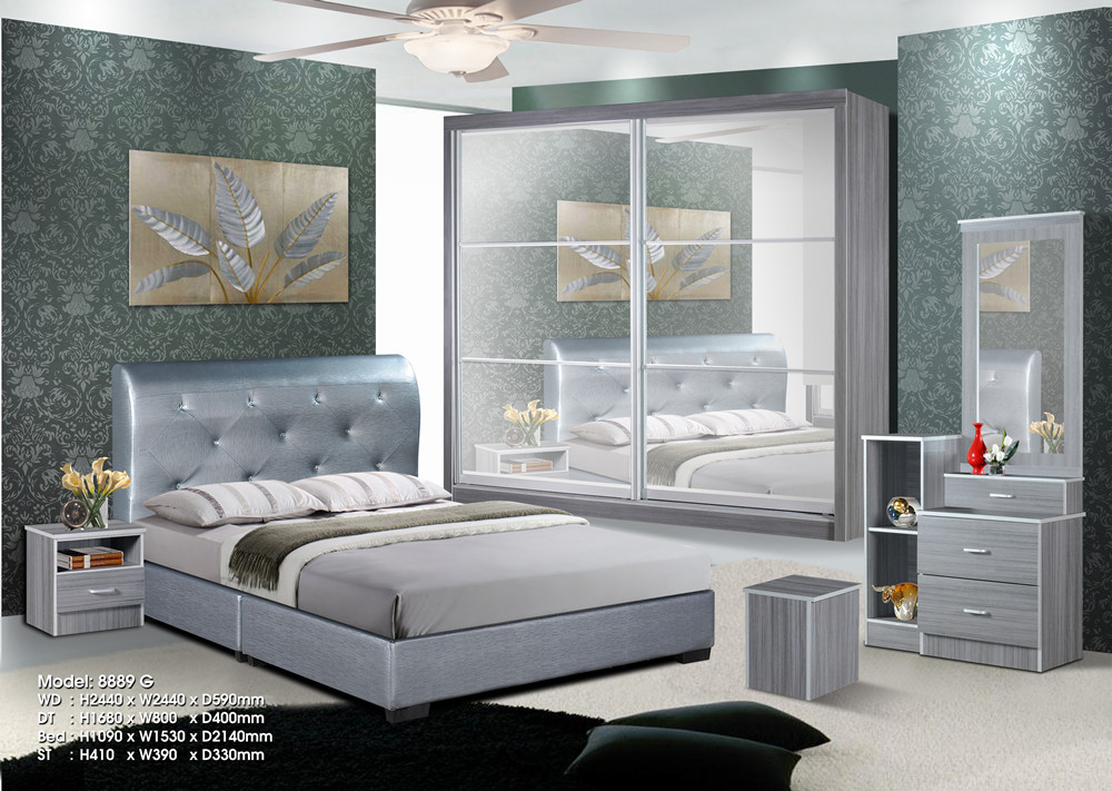 Ansuran Murah Set Bilik Tidur 5 Dalam 1 8x8 Wardrobe Rumah Perabot Di Carou