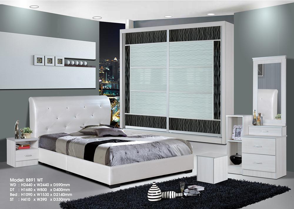 Ansuran Murah Set Bilik Tidur 5 Dalam 1 8x8 Wardrobe Rumah