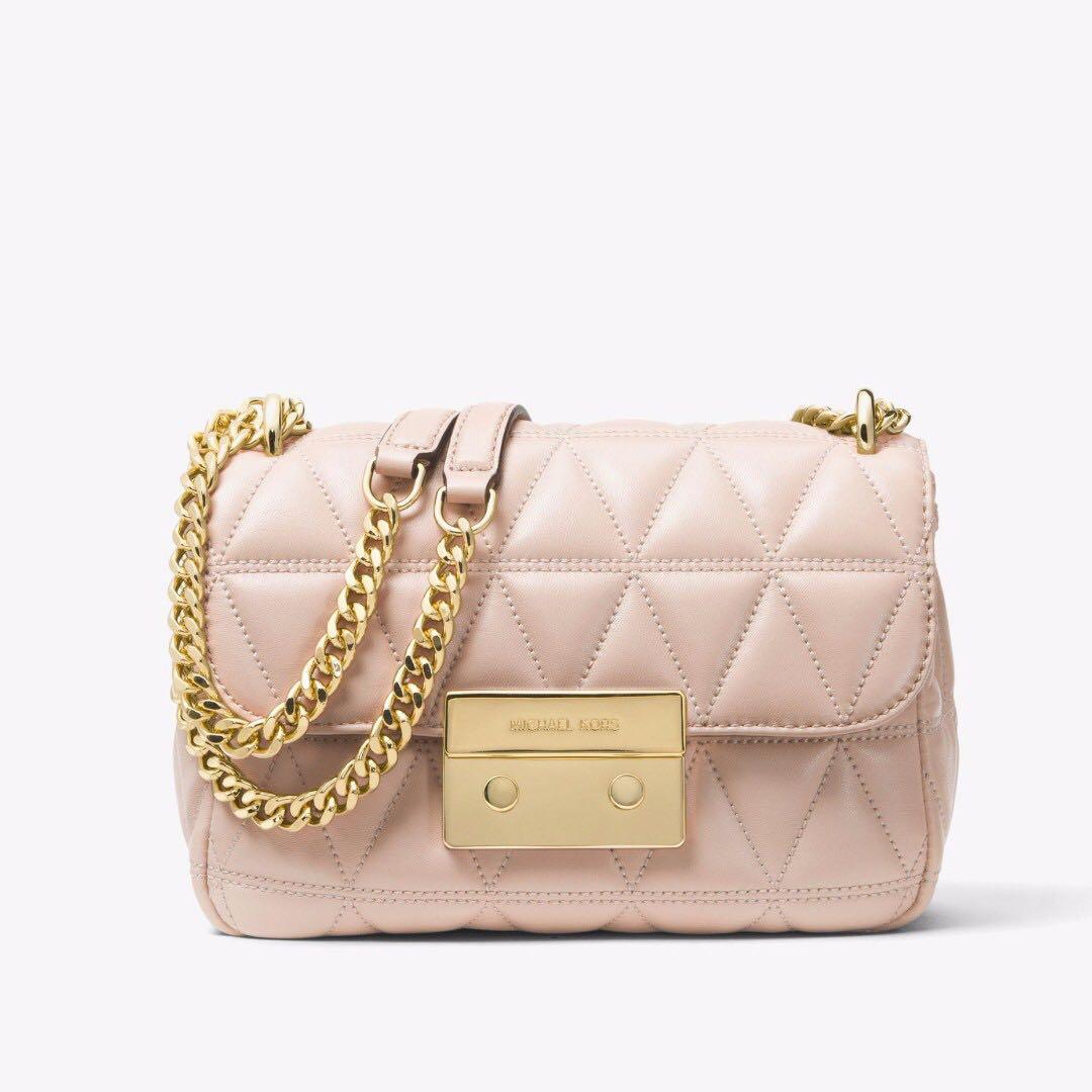 8de30697d8806 Authentic MK Michael Kors Sloan Quilted-Leather Shoulder Bag Satchel ...