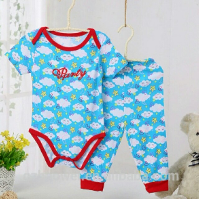 661a4b44e Baby boys and girls romper set( 2 pcs) terno with long pants