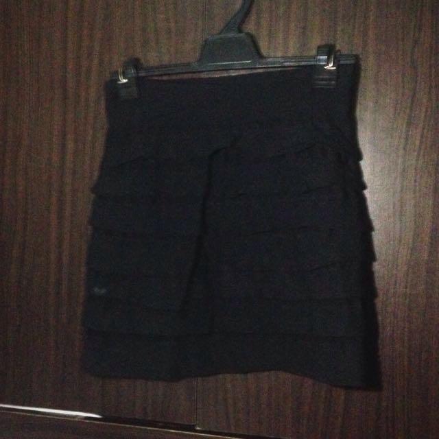 black bandage office skirt