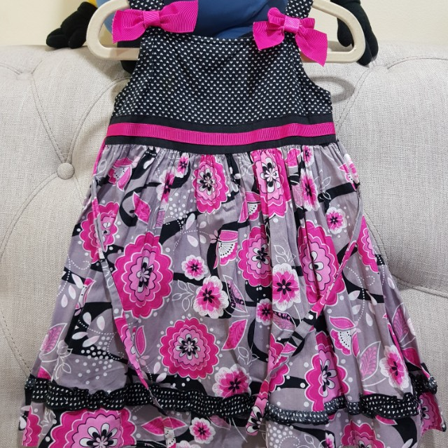 Black Polka Dress 3t