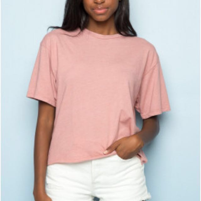 66201c41 BNWOT Brandy Melville Aleena Pink/Blush Top, Women's Fashion ...