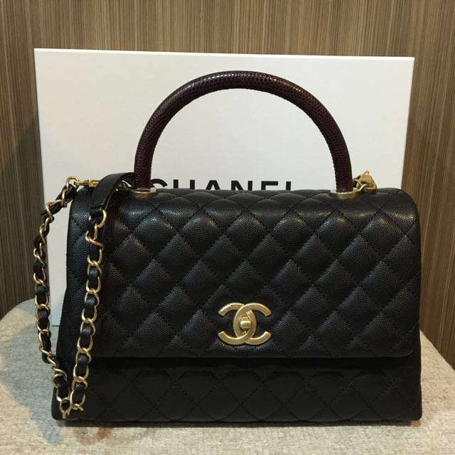 864e17f69babf1 Brand new Chanel coco handle 29cm A92991, Luxury, Bags & Wallets on  Carousell