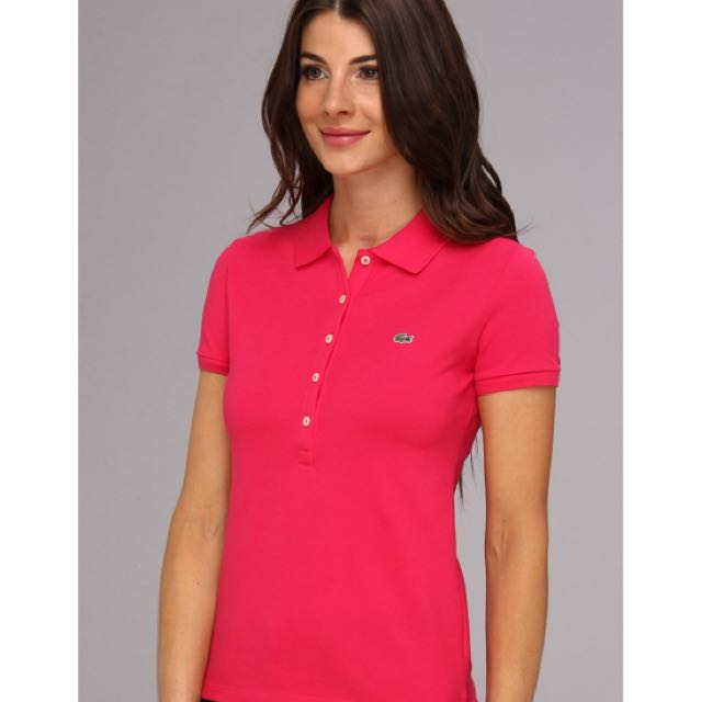 d65e5517f Brand new Lacoste 5-button Slim Cut Polo Tee in Hot Pink, Women's ...