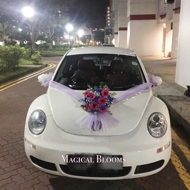 Bridal Car Decoration Wedding Car Decor Wedding Flower Packages