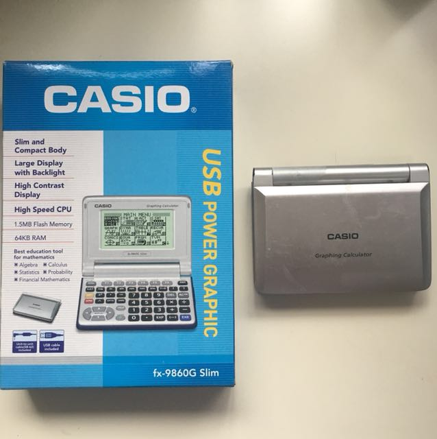 Casio Graphing calculator ( fx-9860G slim ), Electronics
