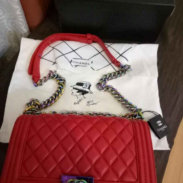 REPRICED!! Chanel Le boy red (limited edition)