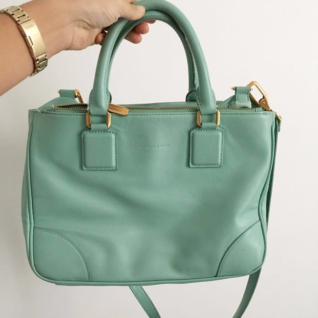 Charles & Keith Tiffany Blue Handbag