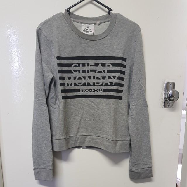 Cheap Monday Grey Crop Sweatshirt