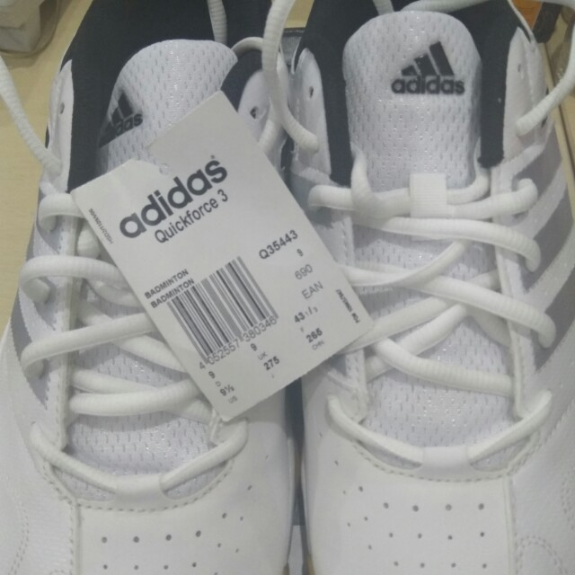CUCI GUDANG ADIDAS QUICKFORCE 3 WHITE (ORIGINAL)