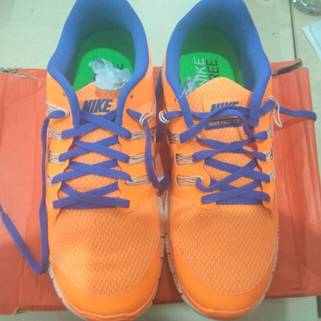 CUCI GUDANG NIKE WOMENS FREE 5.0+FW ORANGE AND BLUE (ORIGINAL)