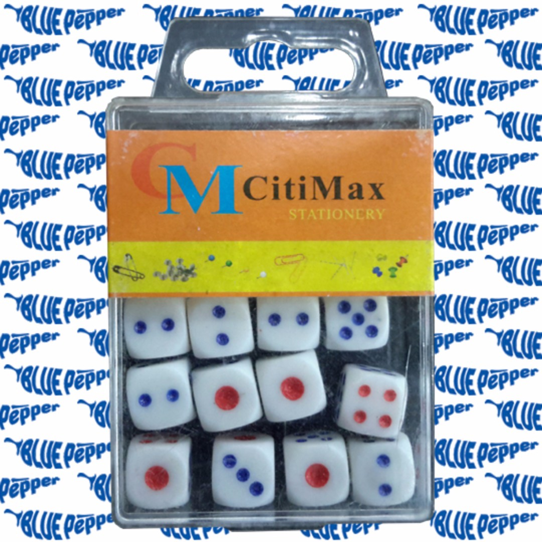 Dice 6-sided Set with Case (12 pcs/case, 11mm size) 🎲