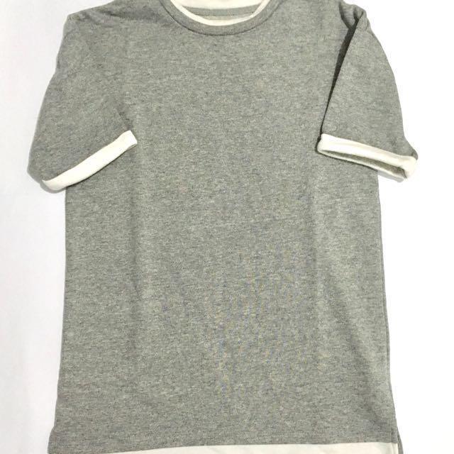 Forever 21 long gray shirt