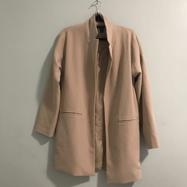 Forever 21 Nude Light Long Coat