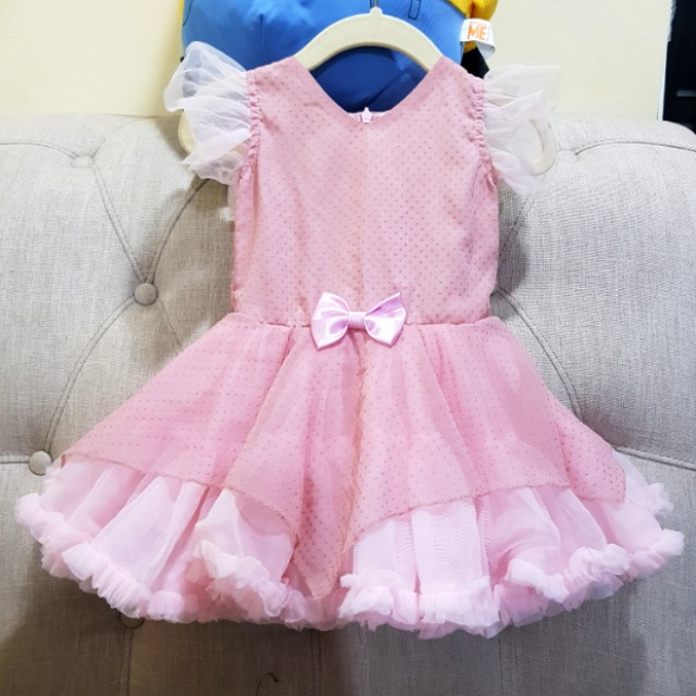 Birthday Gown Pink Tutu 12months
