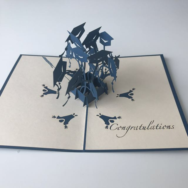 Graduation Cap Pop-up Card