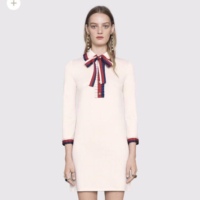 Gucci 高級定製經典領結襯衫洋裝