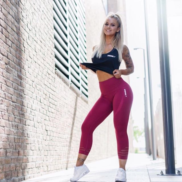 Gymshark high waist seamless beet full length leggings