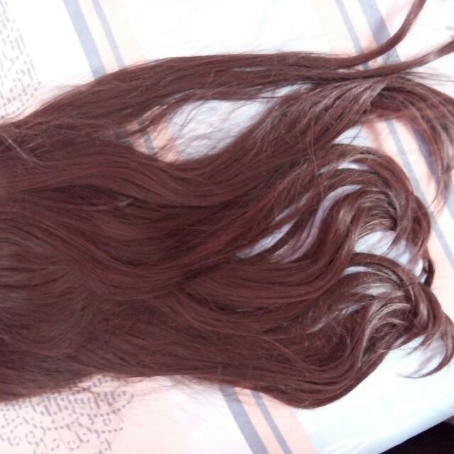 Hairclip wave brown 60 cm