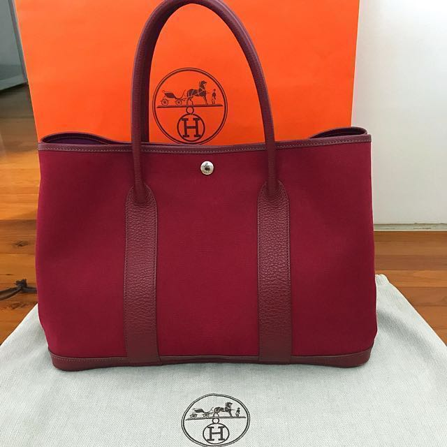 hermes garden party 36 canvas rubis red luxury bags wallets on carousell. Black Bedroom Furniture Sets. Home Design Ideas