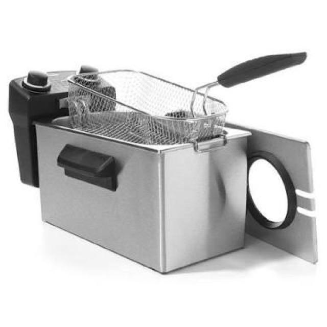 Homemaker 3 Litre Stainless Steel Deep Fryer with Timer