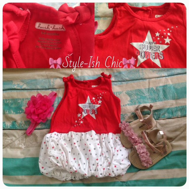 🌸Hush Hush Red Dress, 5mos