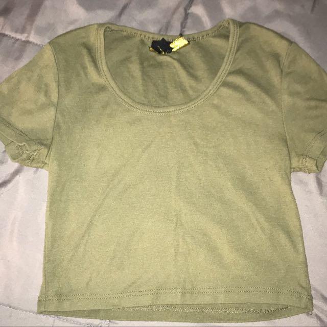 ICE • Khaki Green Crop Top