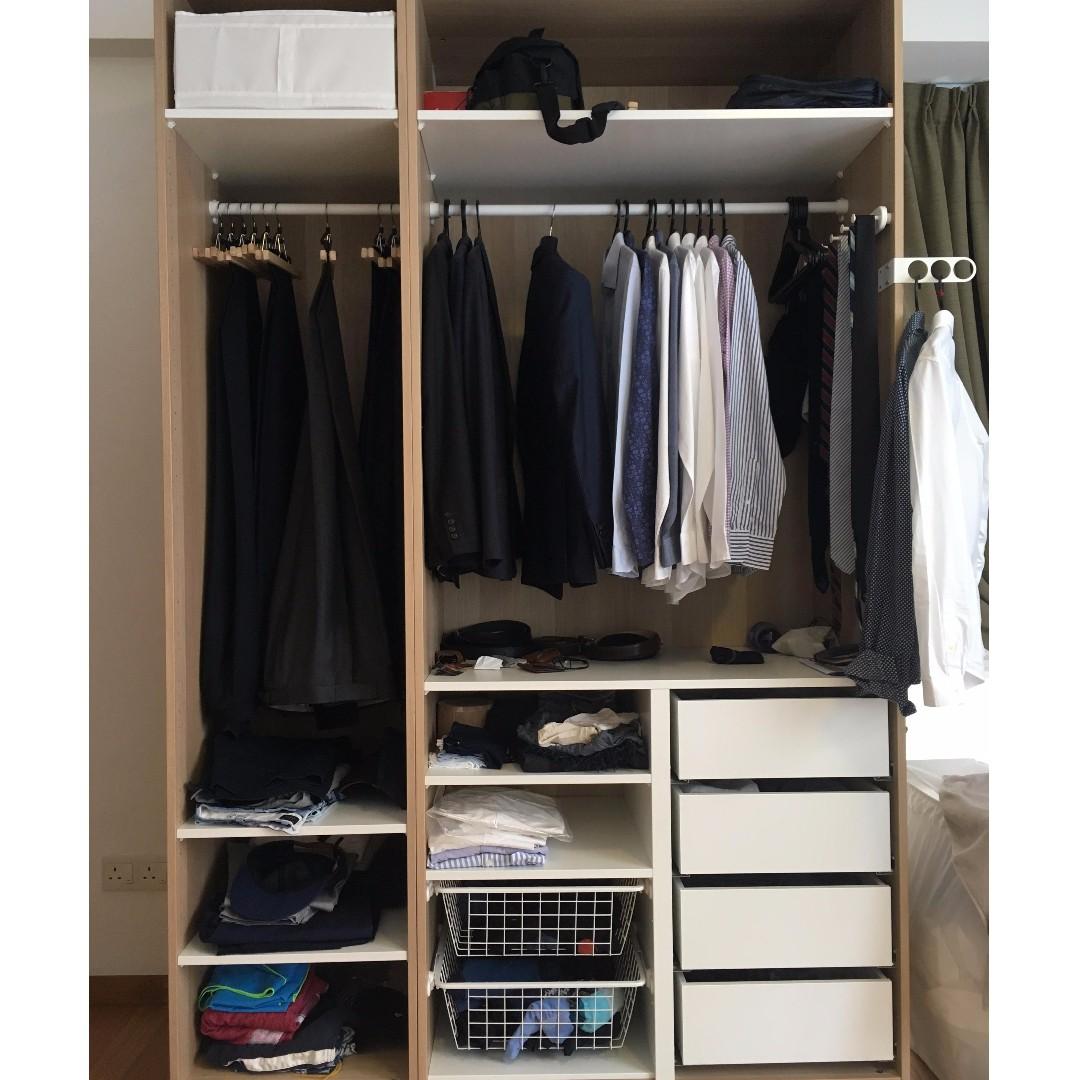 ikea wardrobe pax furniture shelves drawers on carousell. Black Bedroom Furniture Sets. Home Design Ideas